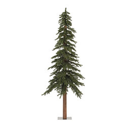 None - 7-foot 921-tip Natural Alpine Tree - Inject your living room with a natural festive mood with this plastic alpine tree. This product measures seven feet in height and features vibrant green artificial leaves that are perfect to place decorations and lights on.