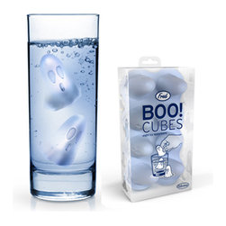 Fred & Friends - BOO CUBES Ice Tray - Can you feel it? That sudden chill from the beyond? Fill the silicone Boo Cubes tray with water, freeze, and release the spirits. Clear, recyclable, PET-G packaging.