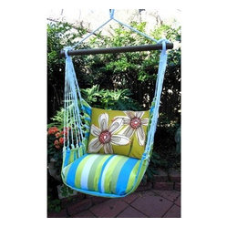 Magnolia Casual Fabulous Flowers Hammock Chair & Pillow Set