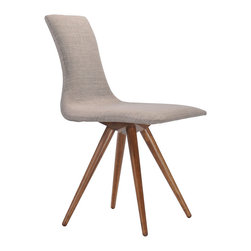 Zuo Modern Contemporary, Inc. - Downtown Dining Chair Dove Gray (set of 2) - Slender shapes and clean lines in rubberwood define the Downtown Chair's comfort and look.  With textured polyblend fabric, this chair gives a warm look to any contmporary space.  It is a great piece of design