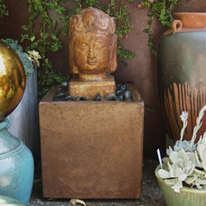 Asian Outdoor Fountains And Ponds by Potted