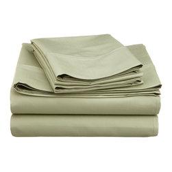 600 Thread Count Cotton Rich Split King Sage Sheet Set - Cotton Rich 600 Thread Count Split King Sage Sheet Set