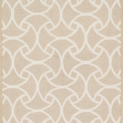 "Loloi Rugs - Loloi Rugs Celine Collection - Beige / Ivory, 9'-3"" x 13' - Combining sophisticated tonal colors with geometric patterns, the Celine Collection is a great option for modern interiors. The collection is hand hooked in India of 100% wool, with high pile defining the pattern and adding texture. Available in a variety of sizes to suit any room.�"