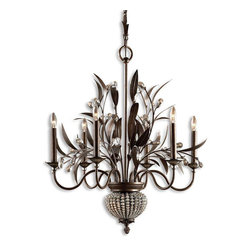Uttermost - 6 Light Single Tier Chandelier With 2 Down Lights - Uttermost is one of the largest manufacturers of interior lamps, wall art, clocks, rugs and framed mirrors in the United States, attributing its success to maximizing product value through better design and sharp pricing. The clever accent and lighting designs that Uttermost has to offer are utterly one-of-a-kind masterpieces that will make a statement in any home. Uttermost's mission is simple, to make great home accessories at a reasonable price.