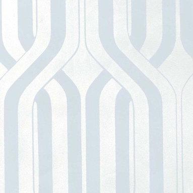 Velvet Criss Cross Wallpaper - This modern wallpaper gives walls extra dimension in flocked velvet. Find it at AmericanBlinds.com.