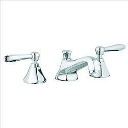 Grohe - Grohe Somerset Bathroom Faucet - Highlighting the enduring appeal of Art Deco design, the Somerset faucet collection is a bold fusion of tradition and modernism. A hexagonally faceted spout and perfectly balanced ergonomically design handles gives continuity to the timeless design.