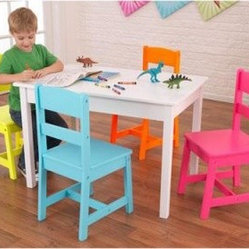 Kidkraft Highlighter Table And 4 Chair Set Brighten Your