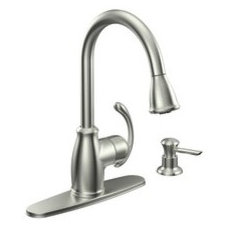 Terrace Spot resist stainless one-handle high arc pulldown kitchen faucet - CA87