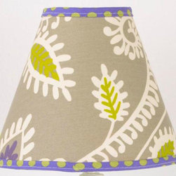 """Cotton Tale Designs - Periwinkle Lamp Shade - A quality baby bedding set is essential in making your nursery warm and inviting. All Cotton Tale patterns are made using the finest quality materials and are uniquely designed to create an elegant and sophisticated nursery. The Periwinkle Lamp Shade in contemporary floral with periwinkle dot trim measures 8 x 9 x 4. Shade made in the USA. Spot clean only. Perfect for girls nursery and beyond.; Weight: 1 lb; Dimensions: 4""""L x 9""""W x 8""""H"""