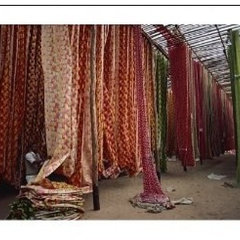 Photographic Print of Screen print textiles, Ahmedabad, Gujarat, India, Asia fro