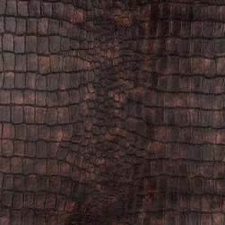 P9373-Sample - This faux leather material is great for all indoor upholstery applications including residential and commercial. This pattern is uniquely made to combine luxury with durability. Our faux leathers are stain resistant, and easy to clean with mild soap and water.