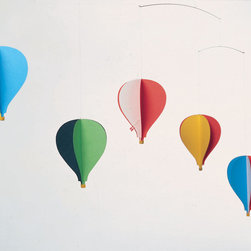 Flensted Mobiles - Balloon Mobile 5 - Let your imagination take flight with this colorful mobile. Inspired by the montgolfières of 18th-century France and modern hot air balloons of today, five balloons soar above with the faintest puff of air.
