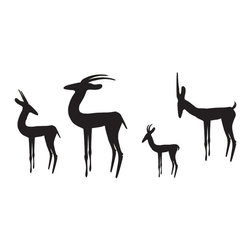 Herd of Gazelles Wall Decal - Some wall decals may come in multiple pieces due to the size of the design.
