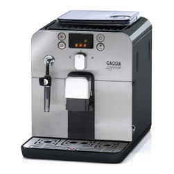 Gaggia - Gaggia Brera in Black - Further proof that good things come in small packages, the Gaggia Brera is a fully equipped super-automatic espresso machine with a compact footprint that will leave you with plenty of counter space.