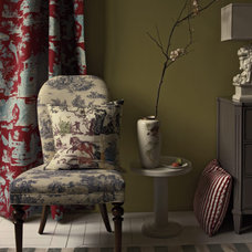 Toile + Toile + Stripes | How To Mix Patterns in Your Home | Real Simple