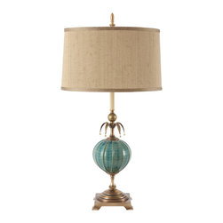 Harlequin Light - Harlequin Luxe Lamp - Luxurious and lovely in the colors of the sea.