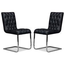 Modern Dining Chairs Susie Black Designer Chair Set