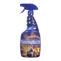 Bryson - Bryson Non-Toxic Tommybuilt Fireplace Gas Log Soot Remover Spray - 6 Pack - TommyBuilt, a name synonymous with award winning gas log designs, collaborated with Bryson Industries to develop TommyBuilt Gas Log Soot Remover. There is no need to remove dirty logs from the fireplace and attempt to clean anymore. Simply heat logs for 15 minutes, and with the flame still burning, spray TommyBuilt Gas Log Soot Remover and watch as the soot disappears from the logs right before your eyes. TommyBuilt also has a fresh mountain scent. TommyBuilt Gas Log Soot Remover is biodegradable, non-toxic, non-flammable, non-corrosive, non-caustic, and phosphate free. Unique formula instantly dissolves soot buildup from vented log set. . Simply preheat logs and apply while logs are still burning . Non-Toxic, non-corrosive, non-flammable, and biodegradable.
