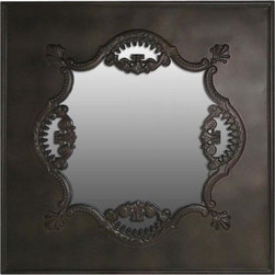 Vintage Mirror, Bronze - The vintage look, great price, unique shape and design make this mirror a real conversation piece.