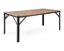ZUO ERA - Sunset Dining Table Natural Oak - Sunset Dining Table Natural Oak