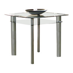 Cramco - Cramco Valencia Square Round Double Glass Top Counter Height Table - Features: