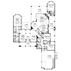 Mediterranean Floor Plan by Sater Design Collection, Inc.