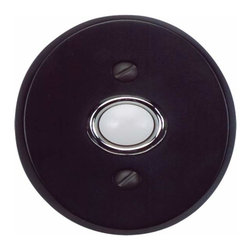 Atlas Homewares - Atlas Homewares Db646-Bl Traditionalist 3-Inch Doorbell Button, Black - Atlas Homewares Db646-Bl Traditionalist 3-Inch Doorbell Buton, Black