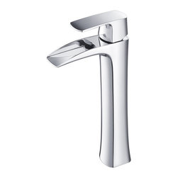 Fresca - Fresca Fortore Single Hole Vessel Mount Bathroom Vanity Faucet - Chrome - This single hole vessel faucet is made from heavy duty brass with a chrome finish.  Features ceramic mixing valve for longevity and watertight functionality.