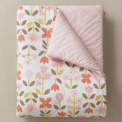 Rosette Blossom Play Blanket - Although I have a baby boy, I can't help but admire the cute baby girl things now and again. Dwell Studio has the best patterns.