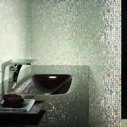 Mosaico + glass tile - Glass tile mosaic perle iridescent