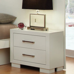 Coaster - Jessica Night Stand With Panel - Jessica Night Stand With Panel