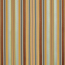 Teal, Green And Brown Shiny Thin Striped Faux Silk Upholstery Fabric By The Yard - This upholstery fabric feels and looks like silk, but is more durable and easier to maintain. This fabric will look great when used for upholstery, window treatments or bedding. This material is sure to standout in any space!