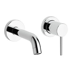 Whitehaus - Luxe Wall Mount Lavatory Faucet - Single lever. Two holes. Projection: 5.63 in.. Overall: 5.25 in. L (5 lbs.). Warranty