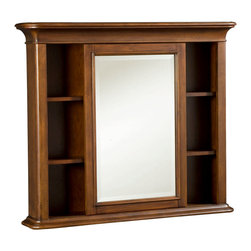 American Drew - American Drew Classics Bureau Mirror in Brown Cherry - The Classics Collection from American Drew is a clean, traditional group with Louis Phillipe design influences such as heavy moldings and bases with broad pilasters. The design of the American Drew Classics collection lends itself to fit into many bedroom settings and the scale works great for second bedrooms or even smaller master bedrooms.
