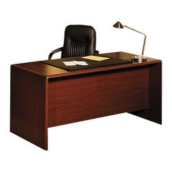 Bush - Bush Northfield 4-Piece Executive Computer Desk Set in Hansen Cherry - Bush - Office Sets - EX17712PKG1 -    Bush Northfield Wood Computer Desk in Harvest Cherry (included quantity: 1) The Northfield Double Pedestal Desk is the cornerstone of your Harvest Cherry work suite. The desk features ample storage space along with high-tech touches like advanced wire management systems. It's fully compatible with all Northfield Collection Harvest Cherry pieces, so your office suite can be as big as you want. Features:
