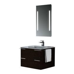 Vigo - Vigo 31-inch Single Bathroom Vanity with Mirror and Lighting System - This timeless Vigo bathroom vanity will compliment any bathroom decor. No other brand can match Vigo's style, quality and design.