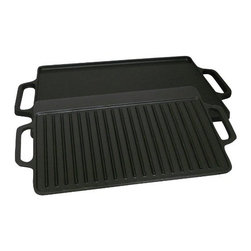 METAL FUSION - 14 x 28 Griddle Cast Iron - 1 flat side and 1 ribbed side