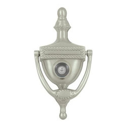 Deltana - Victorian Rope Solid Brass Door Knocker w Viewer (Brushed Chrome) - Finish: Brushed Chrome. Includes 1 door knocker with fastener. Victorian rope door knocker. Solid brass. Pictured in Satin Nickel. Center to center: 3.88 in.. 6 in. L x 3 in. W