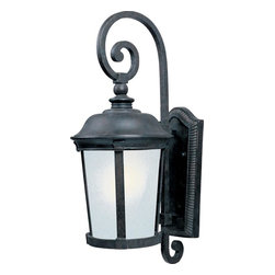 Maxim - Maxim Dover EE One Light Bronze Frosted Seedy Glass Wall Lantern - This One Light Wall Lantern is part of the Dover Ee Collection and has a Bronze Finish and Frosted Seedy Glass. It is Outdoor Capable, Wet Rated, and Energy Star Compliant.