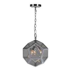 Admiral Ceiling Fixture - Gorgeous chrome faceted pendant with chrome. 60 watts. Bulb not included.