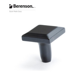 4126-1055-P Matte Black Cabinet Knob by Berenson - Black modern style cabinet knob. Distinguished by smooth, clean, geometric shapes this collection focuses on the less is more approach. The intricate balance of bold yet simple is what makes this style so sophisticated. Available Finishes: Brushed Nickel, Black, Polished Chrome