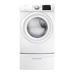 Samsung - DV42H5000EW 7.5 cu. ft. Front Load Electric Dryer with Sensor Dry  Smart Care  9 - This Dryer will be the perfect partner for your laundry it will make your laundry quick and easy with its amazing features It has sensor dry feature which detects moisture and sets drying time accordingly and also a reversible door to place it anywhe...