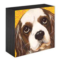 """Charlie"" Wood Panel Print - Panel Prints can sit on a shelf or hang on the wall"