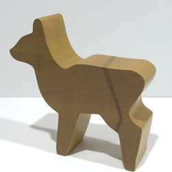 Table Top Ideas - From a set of seven sculptures depicting different animals, Deer reflects Opie's signature graphic style. Eschewing lifelike details, its only ornamentation is a result of the natural rings of the maple, which sinuously curve around razor-sharp edges.