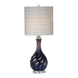 Bassett Mirror - Bassett Mirror Tiburon Table Lamp L2720TEC - Bassett Mirror Tiburon Table Lamp L2720TEC