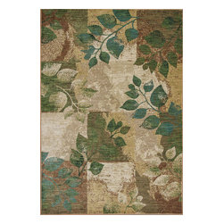 "Zen 5050 Spring Serenity Rug - Zen 5050 Spring Serenity 2'3"" x 3'3"". Machine-Made of 100% Space-Dyed Polyester with No Backing. Made in China. Vacuum regularly & spot clean stains. Professional cleaning recommended periodically."