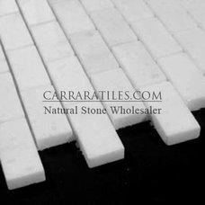 Statuary Marble Italian White Statuario 1x2 Mosaic Tile Polished