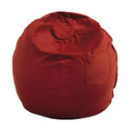 Fun Furnishings - Fun Furnishings Micro Suede Small Bean Bag by Fun Furnishing in Red - Perfect size seating for toddlers, this cute comfortable chair even comes with a handle just right for little hands. Safe and sturdy, slip covered for easy care this chair pleases parents while little girls and boys delight in having furniture that is theirs alone. Built-in durability. We've worked hard to make our furniture durable and help it retain its appearance. We use high-density foam to make the furniture hold up to the tough use it receives from kids. We include a layer of fiber on the seating surfaces to keep the fabric tight much longer.