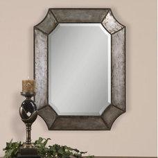 Uttermost Elliot Mirror in Distressed Hammered Aluminum