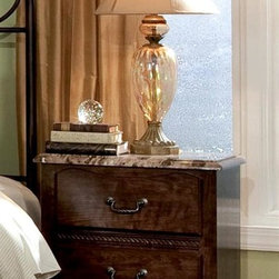 Standard Furniture - Santa Cruz Nightstand - French dovetail. Roller side drawer guides. Surfaces clean easily with a soft cloth. Wood products with simulated wood grain laminates. Group may contain some plastic parts. Top drawers are felt lined to protect delicate items. 23 in. L x 16 in. W x 26 in. H